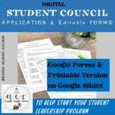 Student Council/ Student Leadership Application & Forms Google Digital Version