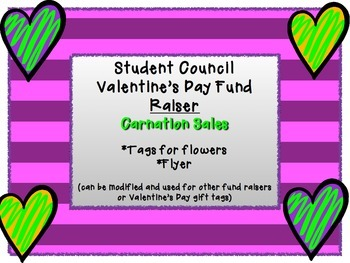 Student Council Valentines Fundraiser - Carnation Sales