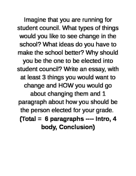 Student Council prompt