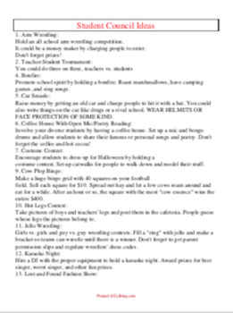 Student Council/Government 100 Activity Ideas!!