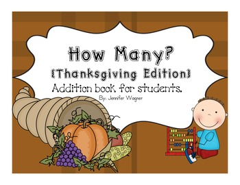 Student Counting Book~~~ Thanksgiving Edition