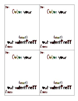 Student Crayon Valentine