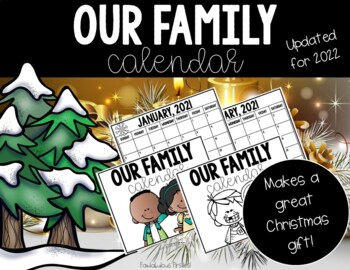 Student Created Christmas Calendar Parent Gift