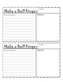 Student Create Word Story Bell Ringer Form