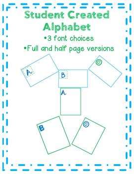 Student Created Alphabet Template