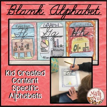 Student Created Alphabet for Any Content Area