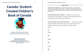 Student Created Children's Book about Canada