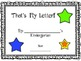 Student-Created Class Books for Kindergarten and First Grade