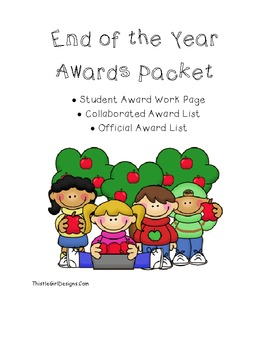 Student Created End of the Year Awards