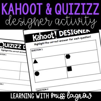 Student Created Kahoot and Quizizz Designer Writer