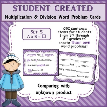 Student Created Multiplication and Division Cards - Set 5