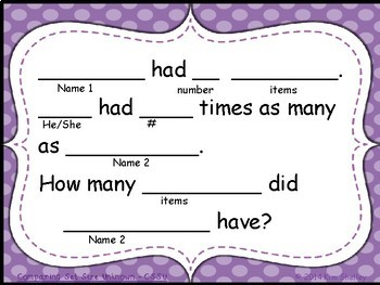 Student Created Multiplication and Division Cards - Set 6