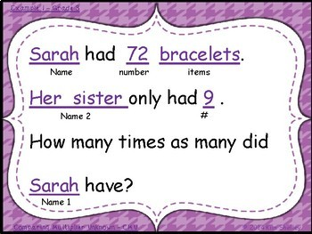 Student Created Multiplication and Division Cards - Set 7
