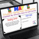 Student-Created Monthly Newsletter Templates on Google (Entire School Year!)