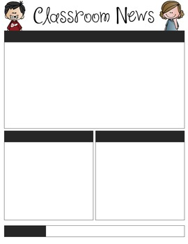 Student Created Newsletter Template - Editable