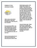 Student Created Newsletter