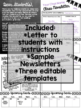 Student-Created Newsletters: An Editable Newsletter for your Students