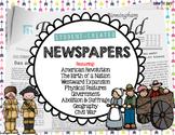 Student Created Newspapers Social Studies (History) Activities Bundle