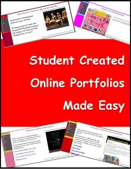 Student Created Online Portfolios Made Easy