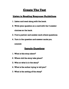 Student Created Test Questions