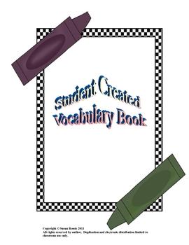 Student Created Vocabulary Book