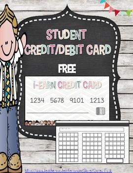 Student Credit Debit Cards Behavior Reward System Class Economy Store