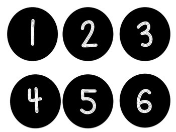 Student Cubby Labels (Numbers 1-30)