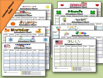 Student Daily Attendance Calendar