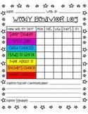 Student Weekly Behavior Log