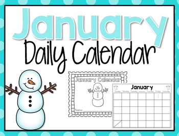 Student Daily Calendar {January}