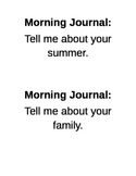 Student Daily Journal Topics