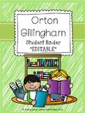 Student Daily Orton Gillingham Practice Binders