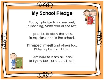 Student Daily Pledge