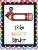 PreK Daily Take Home Binder Folder Packet Watercolor Chevron