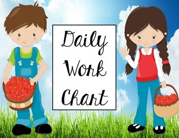 Classroom Management: Student Daily Work Chart (Editable)