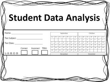 Student Data Analysis Form (TEKS)