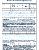 Student Data Analysis Information Sheet (Narratives) for Conferencing