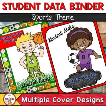 Student Data Binder Sports Theme (Editable)