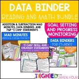 Student Data Binders BUNDLE! Reading & Math Goal Setting &