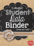 Student Data Binder Burlap Chalkboard