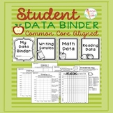 Student Data Binder - Common Core Aligned