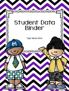 Student Data Binder Cover and Spine Freebie