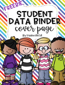 Student Data Binder Cover page