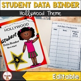 Student Data Binder (Editable) Hollywood Theme