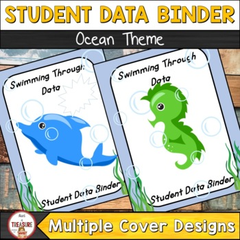 Student Data Binder (Editable) Ocean Theme