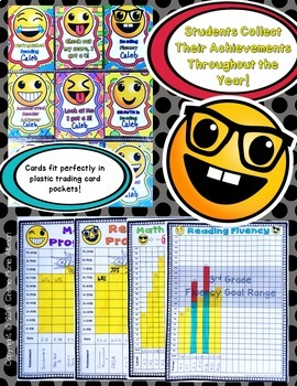 Student Data Binder Tracking Notebook (includes editable data graph & cards)