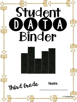 Student Data Binder, Graphs, Goals and Reflection: Gold Arrow Tribal Theme