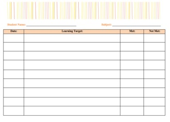 Student Data Binder - Individual Target Charting