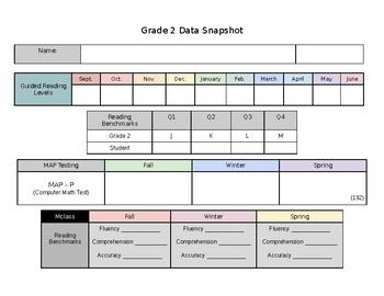 Student Data Binder K-2