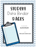 Student Data Binder Pages
